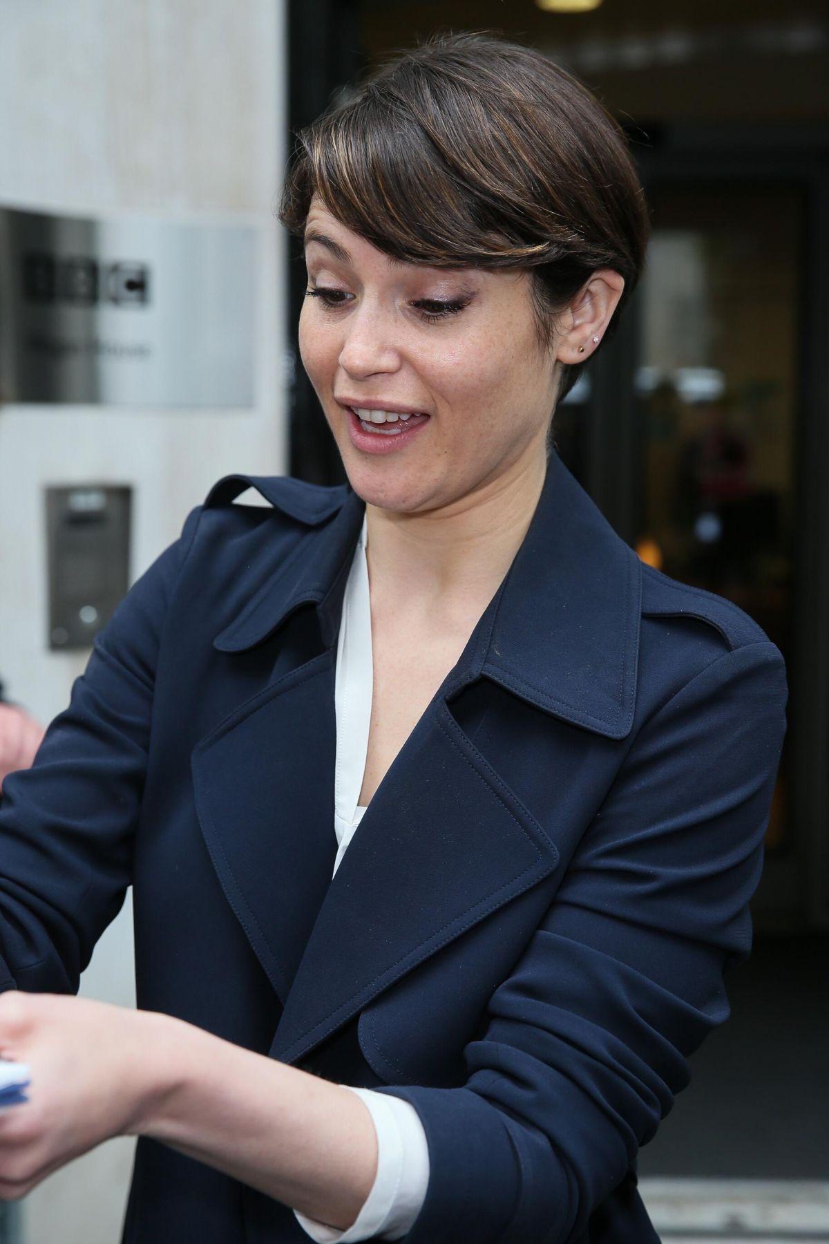 GEMMA ARTERTON Arrives at BBC Radio 2 Breakfast Show in ...