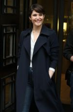 GEMMA ARTERTON Arrives at BBC Radio 2 Breakfast Show in London 04/21/2017