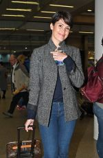 GEMMA ARTERTON at Eurostar Station in London 04/19/2017