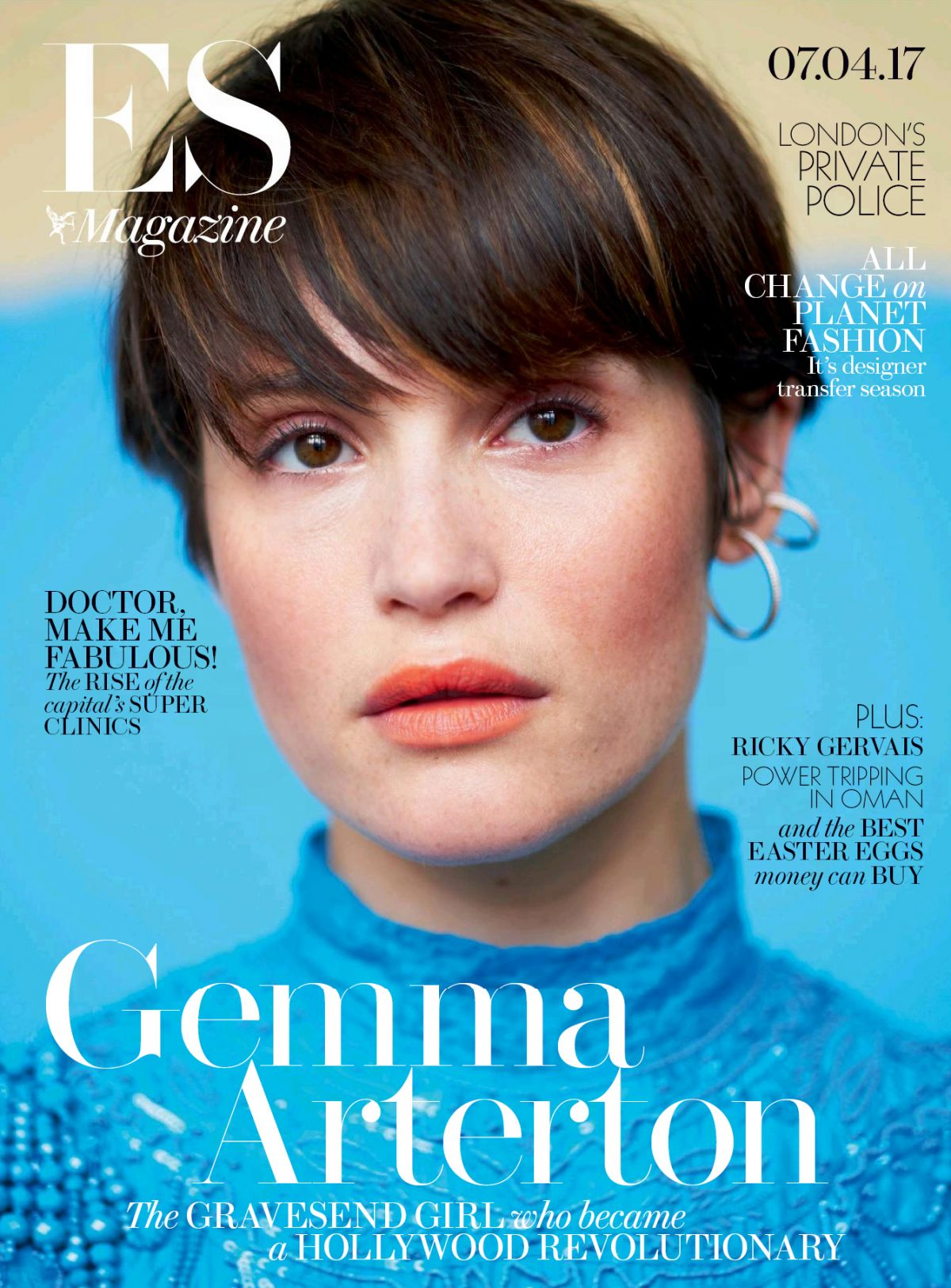 GEMMA ARTERTON for Evening Standard Magazine, April 2017