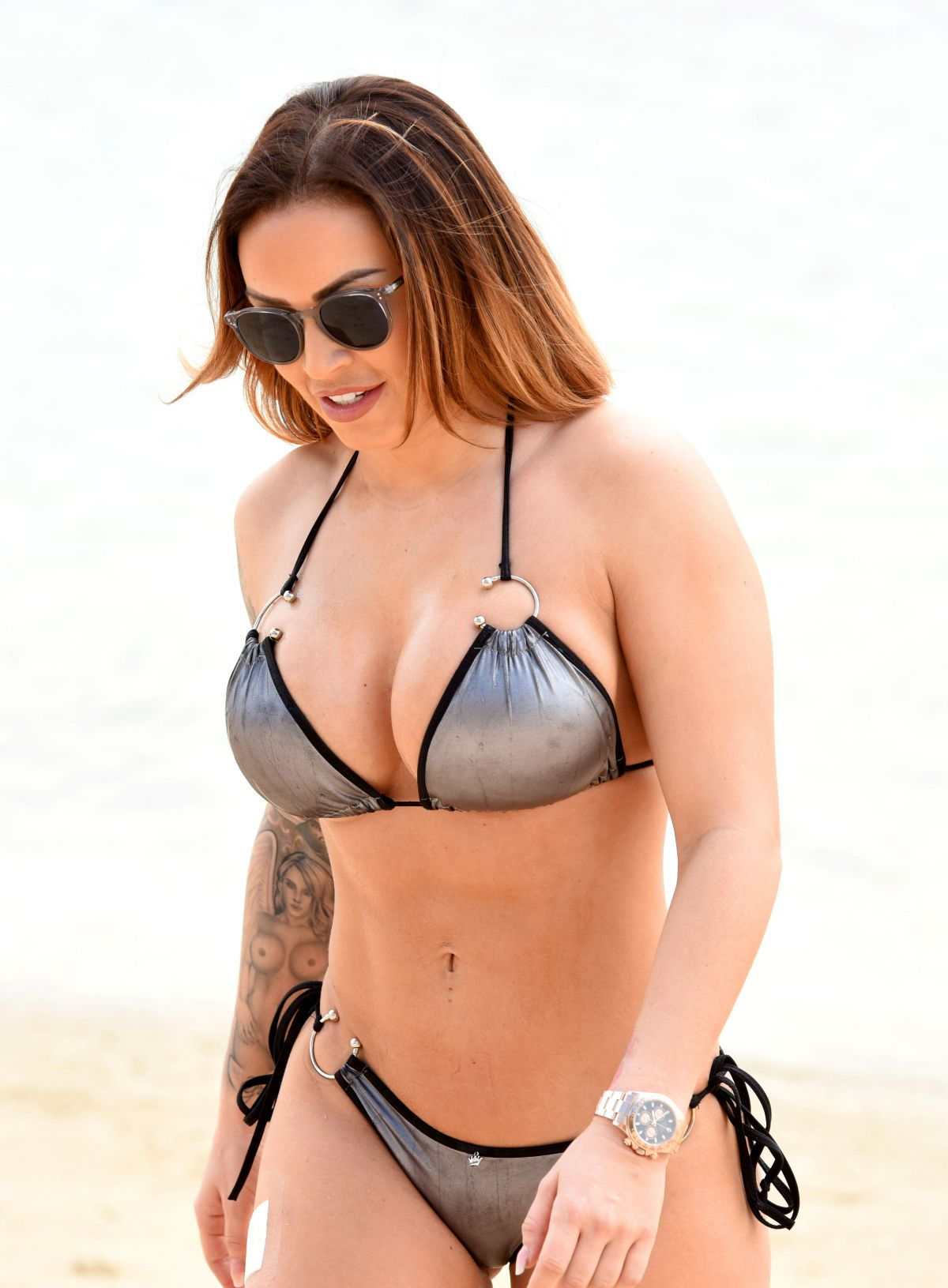 GEMMA MASSEY in Bikini at a Beach in Dubai 04/17/2017
