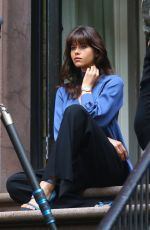 GEORGIA FOWLER on the Set of a Photoshoot in New York 04/26/2017