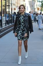 GEORGIE FLORES Arrives at AOL Studios in New York 04/18/2017