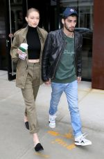 GIGI HADID and Zayn Malik Out in New York 04/25/2017