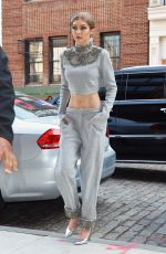 GIGI HADID Arrives at Her Apartment in New York 04/12/2017