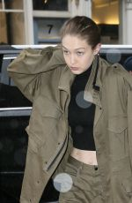 GIGI HADID Arrives at Her Apartment in New York 04/25/2017
