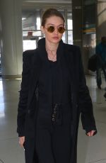 GIGI HADID at JFK Airport in New York 04/03/2017
