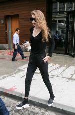 GIGI HADID Heading to a Gym in New York 04/12/2017