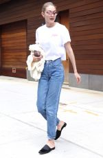 GIGI HADID in Jeans Out in New York 04/21/2017