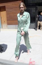 GIGI HADID Leaves Her Apartment in New York 04/13/2017