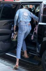 GIGI HADID Leaves Her Apartment in New York 04/16/2017