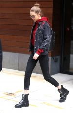 GIGI HADID Leaves Her Hotel in New York 04/17/2017