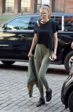 GIGI HADID Out and About in New York 04/10/2017