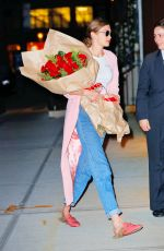 GIGI HADID Out Celebrating Her 22nd Birthday in New York 04/23/2017