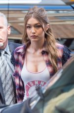 GIGI HADID Out in New York 04/11/2017