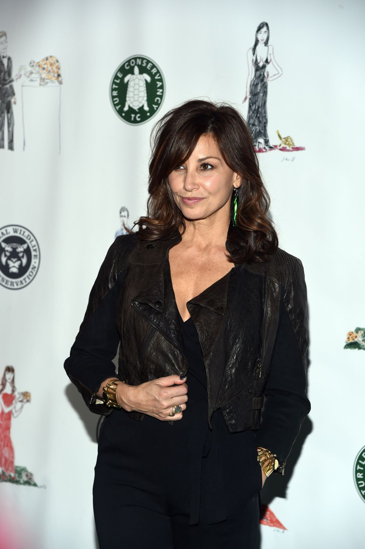 GINA GERSHON at Turtle Ball in New York 04/17/2017