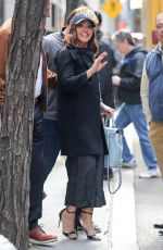 GINA RODRIGUEZ Leaves Today Show in New York 04/03/2017