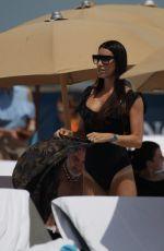 GIORGIA GABRIELE in Swimsuit at a Beach in Miami 04/10/2017