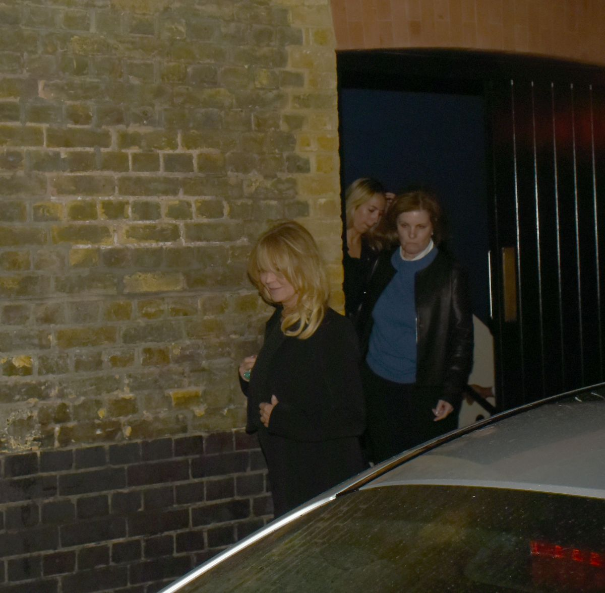 GOLDIE HAWN Leaves Chiltern Firehouse in London 04/27/2017