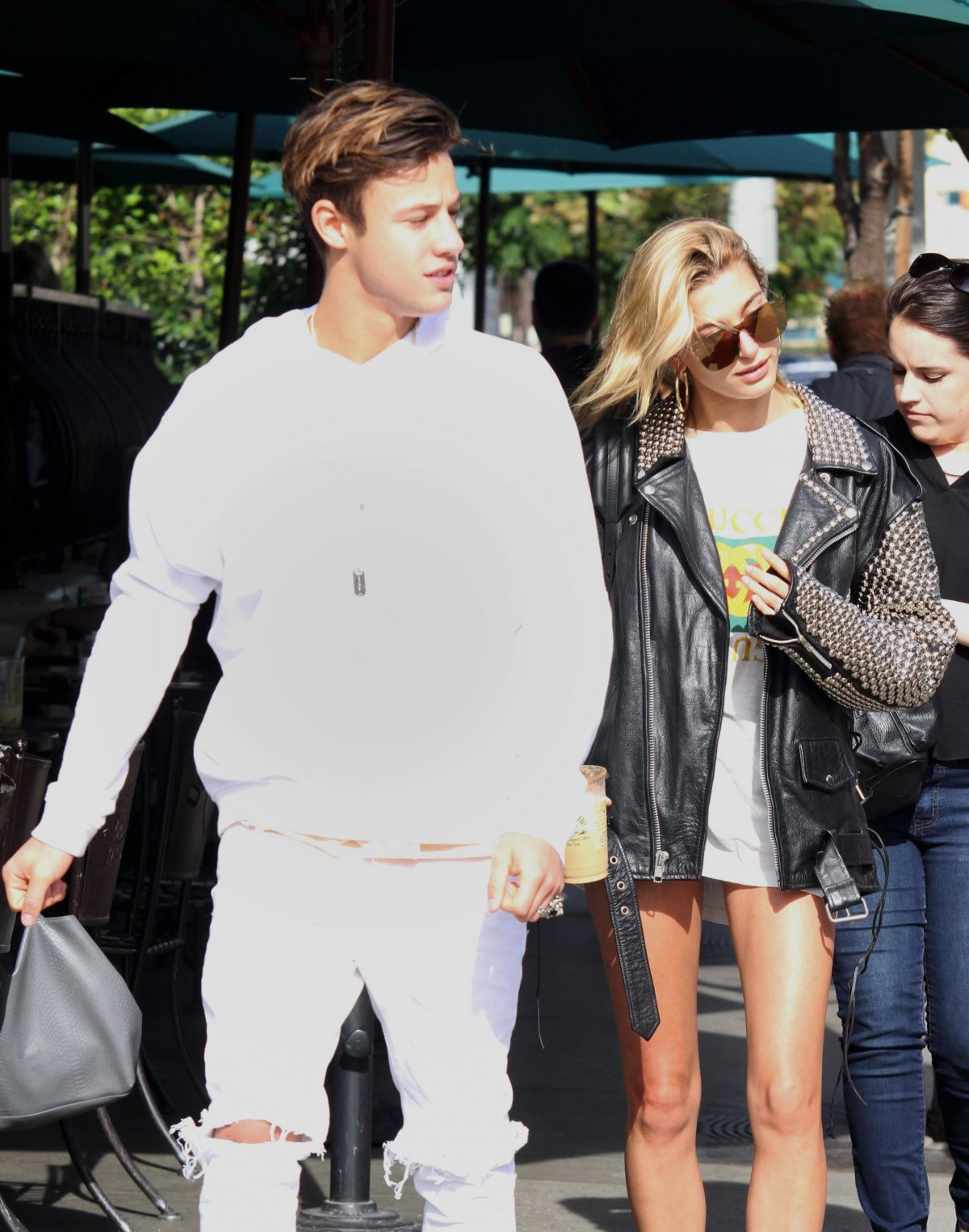 Hailey Baldwin And Cameron Dallas At Urth Cafe In Los Angeles 04 24