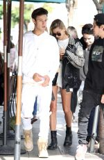 HAILEY BALDWIN and Cameron Dallas at Urth Cafe in Los Angeles 04/24/2017