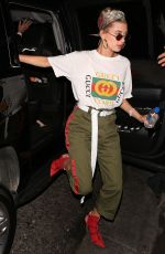 HAILEY BALDWIN Arrives at Nice Guy in West Hollywood 04/21/2017