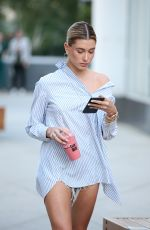 HAILEY BALDWIN in Denim Shorts Out in Los Angeles 04/12/2017