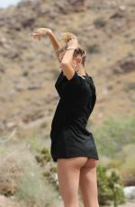 HAILEY BALDWIN on the Set of a Photoshoot in Los Angeles 04/17/2017