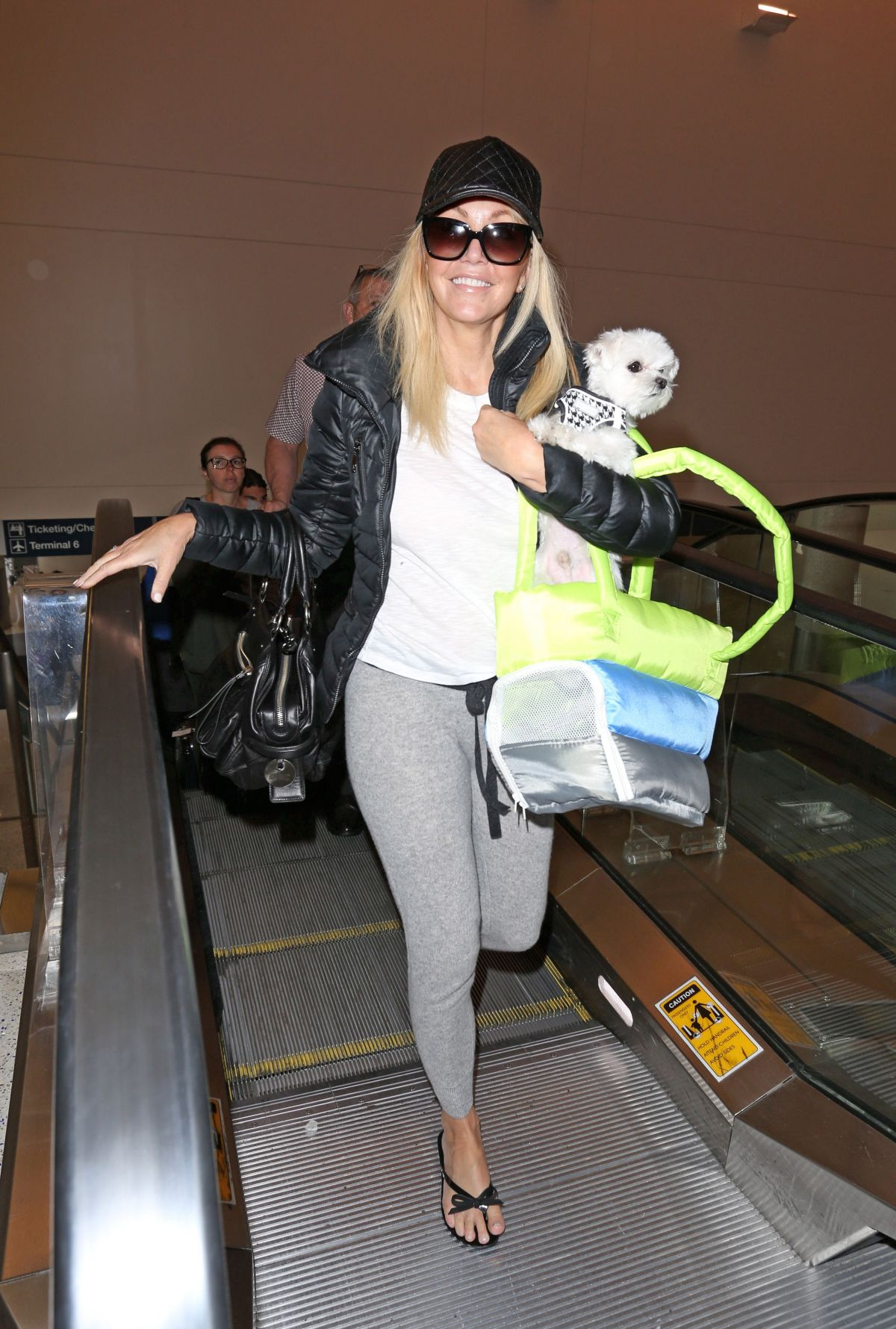 HEATHER LOCKLEAR at Los Angeles International Airport 04/19/2017