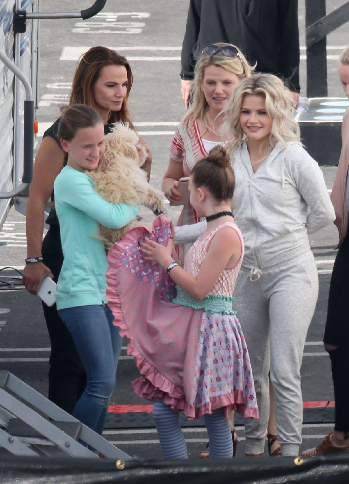 HEATHER MORRIS, LINDSAY ARNOLD, NANCY KERRIGAN and PETA MURGATROYD on the Set of DWTS 04/04/2017