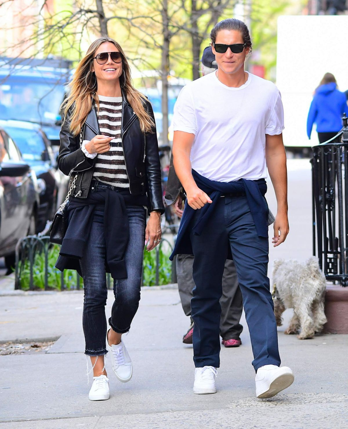 HEIDI KLUM and Vito Schnabel Out in New York 04/23/2017
