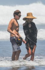 HEIDI KLUM in Bikini at a Beach in San Jose 04/14/2017
