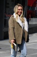 HILARY DUFF Arrives on the Set of Younger in New York 04/20/2017