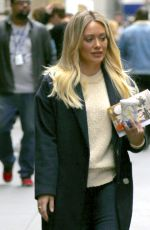 HILARY DUFF Arrives on the Set of Younger in New York 04/24/2017