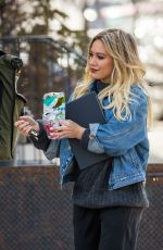 HILARY DUFF Leaves Younger Set in New York 04/03/2017