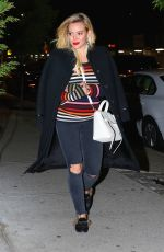 HILARY DUFF Night Out in New York 04/21/2017
