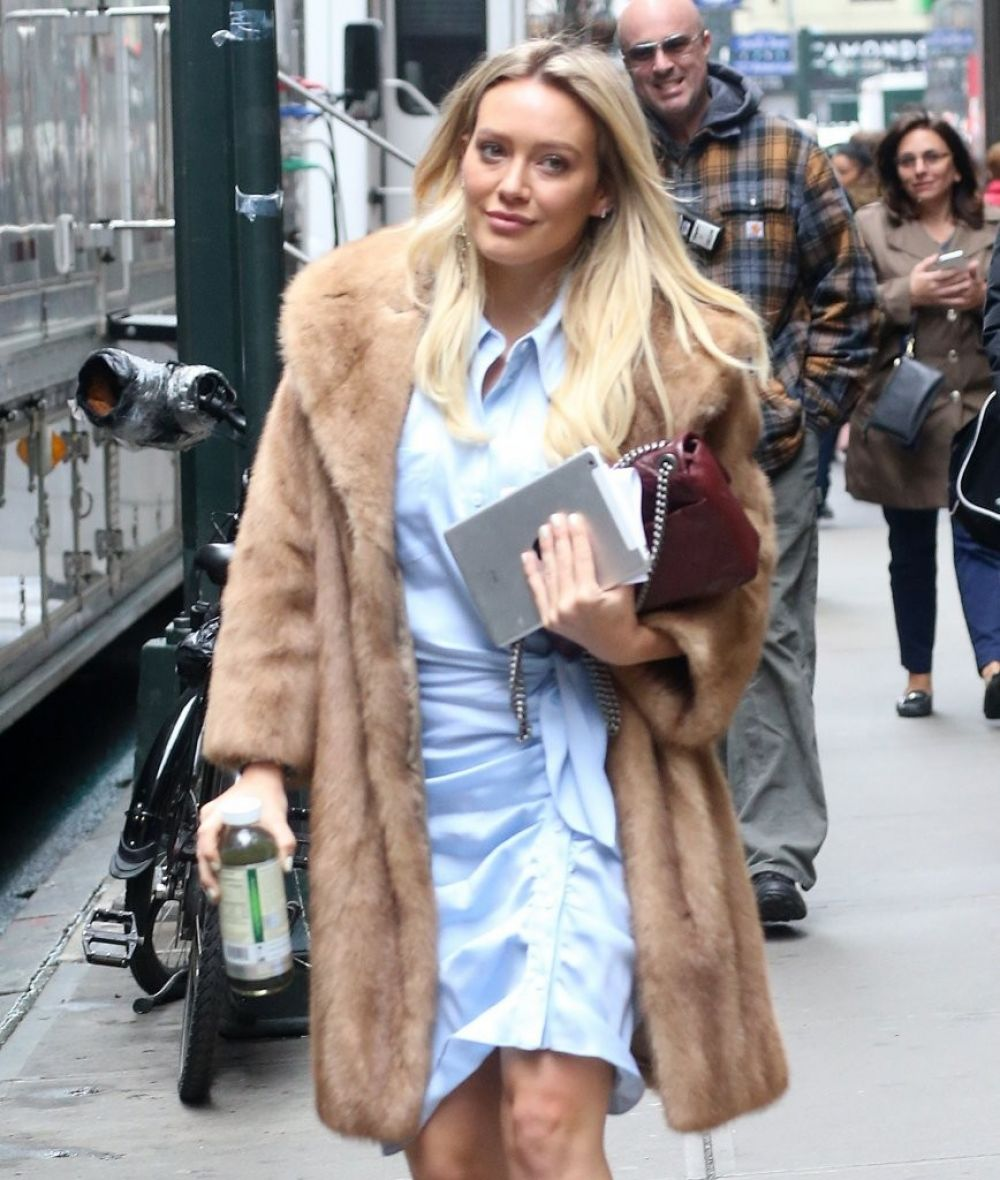 HILARY DUFF on the Set of Younger in New York 04/04/2017