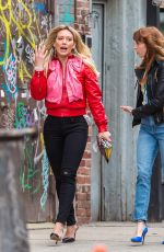 HILARY DUFF on the Set of Younger in New York 04/10/2017