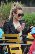 HILARY DUFF Out for Lunch in New York 04/23/2017