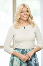 HOLLY WILLOUGHBY at This Morning Show in London 04/25/2017