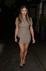 IMOGEN THOMAS Out for Dinner at Aqua in London 04/27/2017