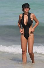 JACKIE CRUZ in Swimsuit at a Beach in Miami 04/27/2017