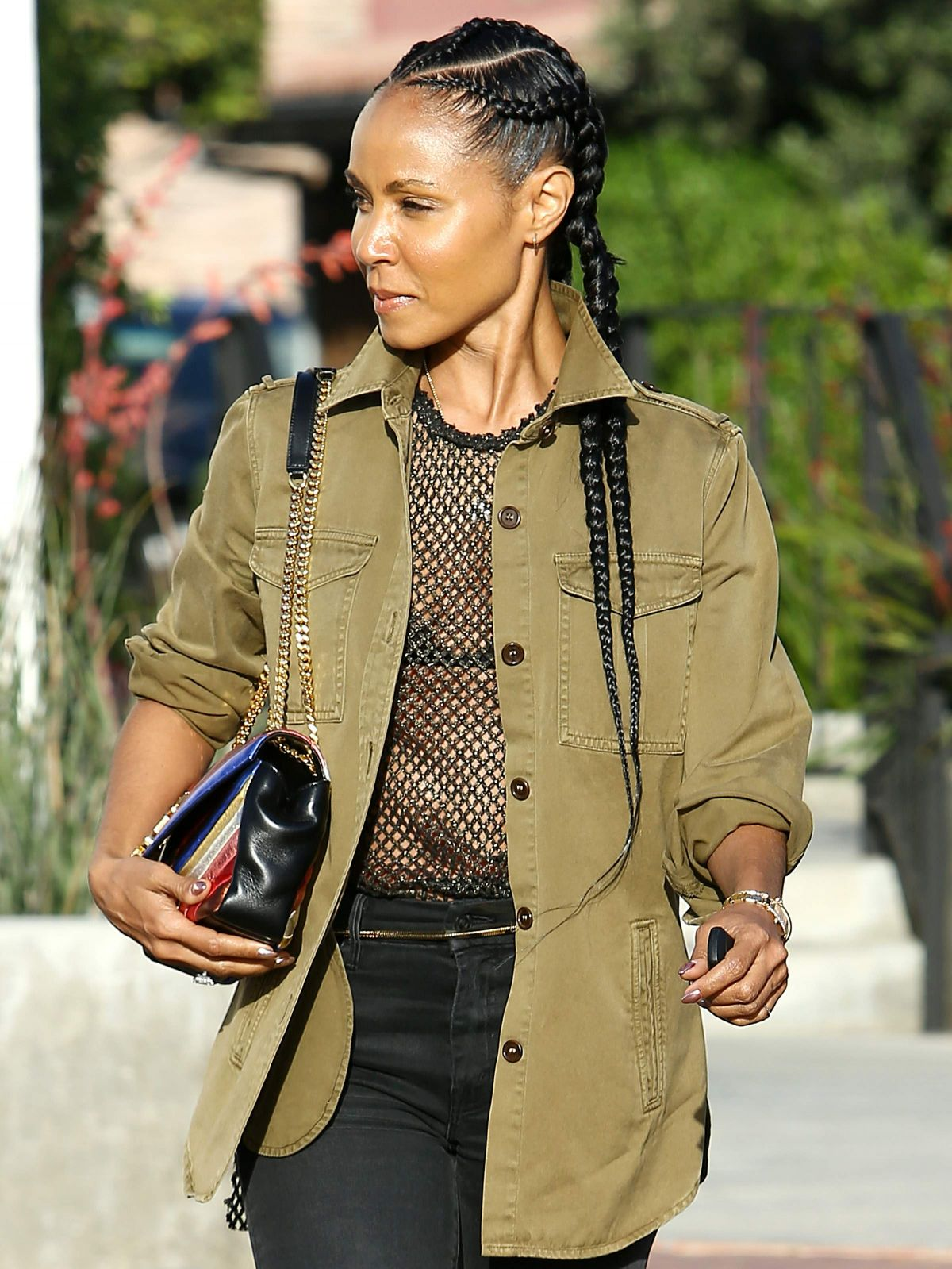 JADA PINKETT SMITH Out and About in Los Angeles 04/23/2017