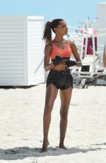 JASMINE TOOKES on the Set of VS Photoshoot in South Beach 04/25/2017