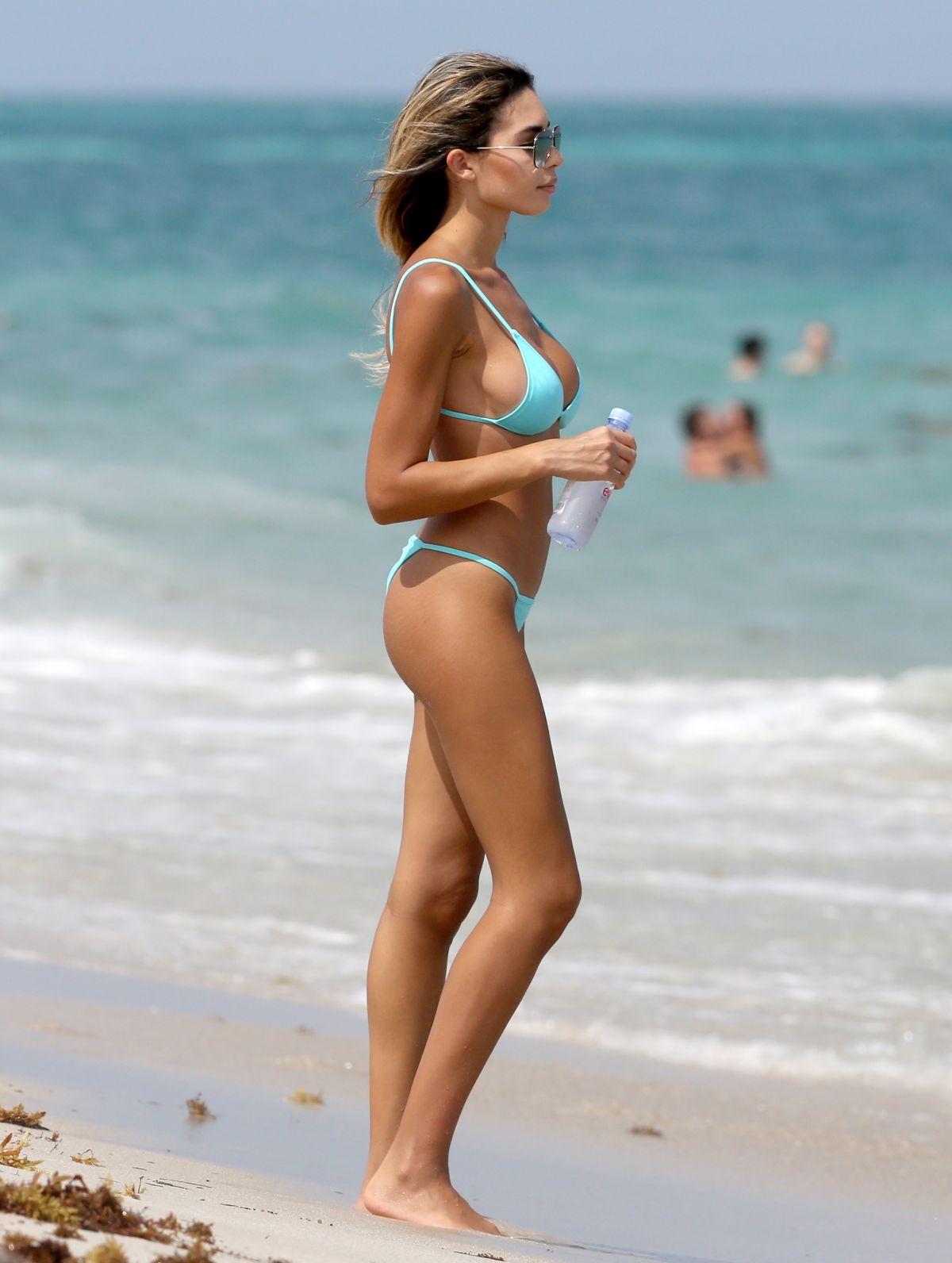 JASMINE TOSH in Bikini on the Beach in Miami 04/05/2017