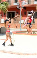 JEMMA LUCY and CHANTELLE CONNELLY on Vacation in Spain 04/13/2017