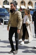 JENNIFER ANISTON and Justin Theroux Leaving Chanel Store in Paris 04/12/2017