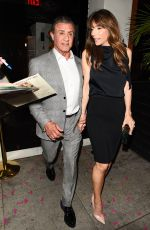 JENNIFER FLAVIN and Sylvester Stallone Leaves Mama Shelters Restaurant in Los Angeles 04/26/2017