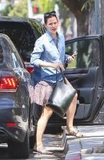 JENNIFER GARNER in Mini Skirt Out in Los Angeles 04/12/2017