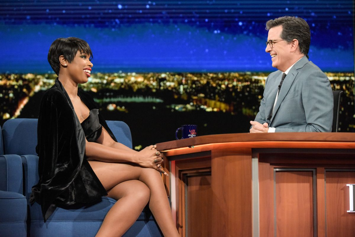 JENNIFER HUDSON at Late Show with Stephen Colbert 04/17/2017